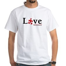 Love Someone with Autism White T-Shirt