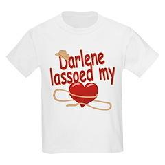 Darlene Lassoed My Heart Kids Light T-Shirt