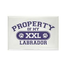 Labrador PROPERTY Rectangle Magnet