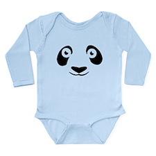"""Panda Face"" Long Sleeve Infant Bodysuit"
