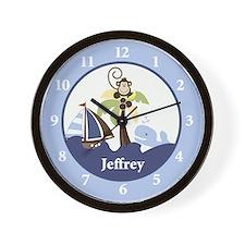Ahoy Mate Monkey Wall Clock - Jeffrey