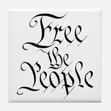 Free The People Tile Coaster