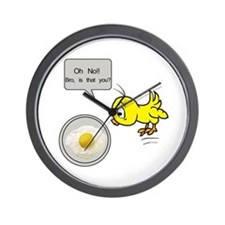 Chicken Fried Egg Humor Wall Clock
