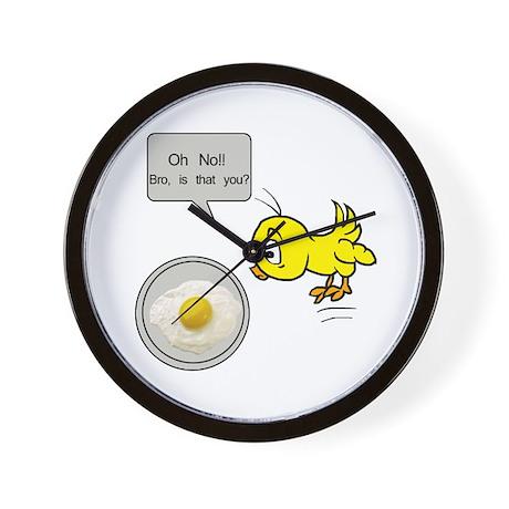 Chicken Fried Egg Humor Wall Clock