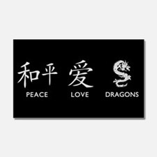 Peace, Love, Dragons Car Magnet 20 x 12