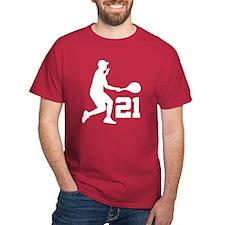 Tennis Uniform Number 21 Player T-Shirt