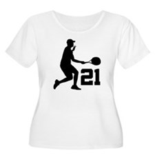 Tennis Uniform Number 21 Player T-Shirt
