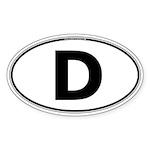 (D) Euro Oval Sticker (Oval 10 pk)