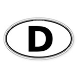 (D) Euro Oval Sticker (Oval 10 pk)