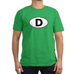 (D) Euro Oval Men's Fitted T-Shirt (dark)