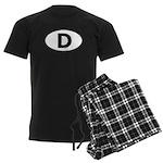 (D) Euro Oval Men's Dark Pajamas
