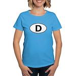 (D) Euro Oval Women's Dark T-Shirt