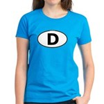 (D) Euro Oval Women's Dark T-Shirt