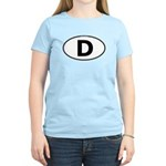 (D) Euro Oval Women's Light T-Shirt