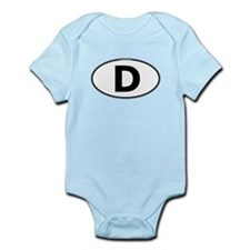 (D) Euro Oval Infant Bodysuit