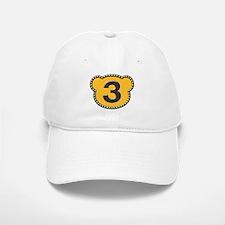 Bear Head Number 3 three Baseball Baseball Cap