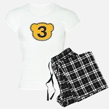 Bear Head Number 3 three Pajamas