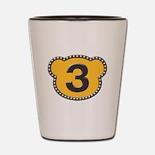 Bear Head Number 3 three Shot Glass