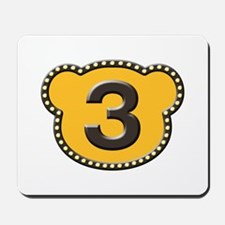 Bear Head Number 3 three Mousepad