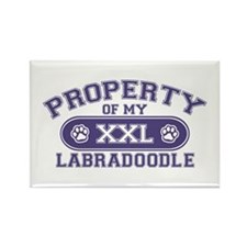 Labradoodle PROPERTY Rectangle Magnet