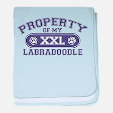 Labradoodle PROPERTY baby blanket