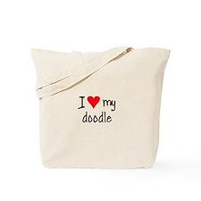 I LOVE MY Doodle Tote Bag