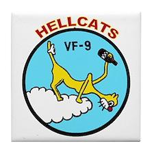 VF 9 Hellcats Tile Coaster