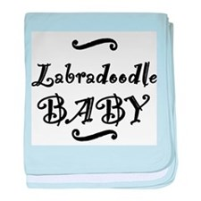 Labradoodle BABY baby blanket