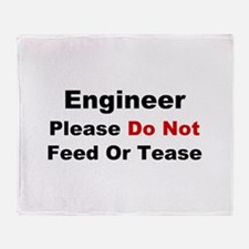 Engineer: Please Do Not Feed Throw Blanket