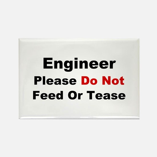Engineer: Please Do Not Feed Rectangle Magnet
