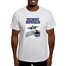US NAVY VF-143 PUKIN DOGS Ash Grey T-Shirt
