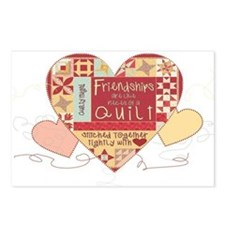 Friendships are like Quilts i Postcards (Package o
