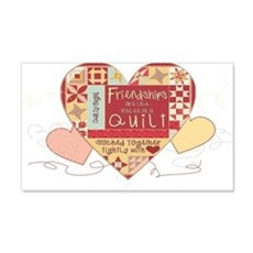 Friendships are like Quilts i 22x14 Wall Peel