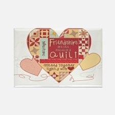 Friendships are like Quilts i Rectangle Magnet