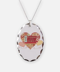 Friendships are like Quilts & Hearts Necklace