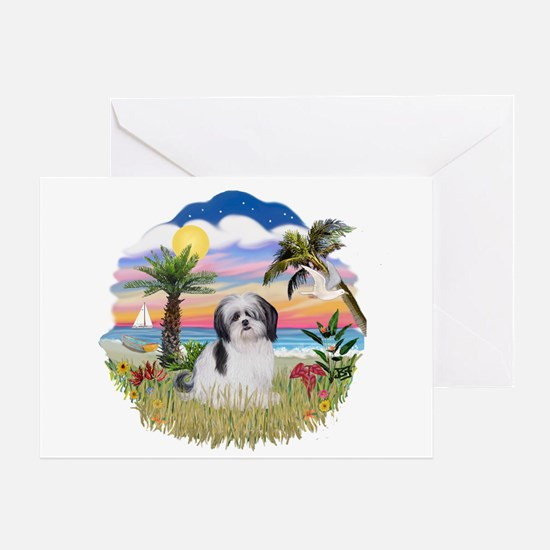 Palms-ShihTzu1 Greeting Card