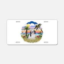 Palms-ShihTzu1 Aluminum License Plate