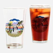 Palms-ShihTzu1 Drinking Glass