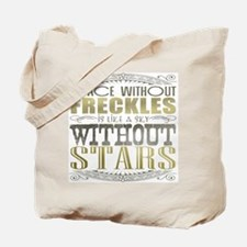 A Face Without Freckles (Typography) Tote Bag