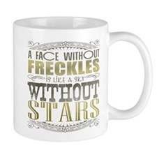 A Face Without Freckles (Typography) Mug