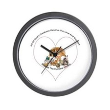 Humane Society Support Wall Clock