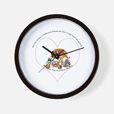 Humane Society Support Wall Clock