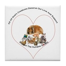 Humane Society Support Tile Coaster