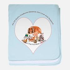 Humane Society Support baby blanket