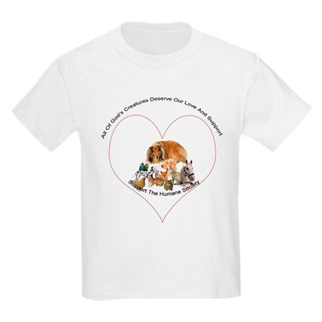Humane Society Support Kids Light T-Shirt
