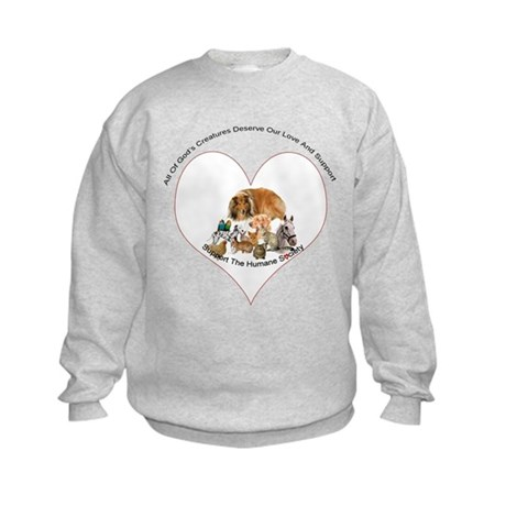 Humane Society Support Kids Sweatshirt