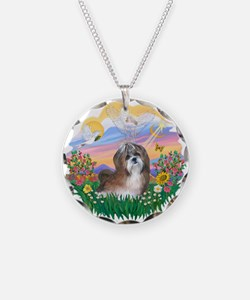 Guardian / Shih Tzu #8 Necklace Circle Charm