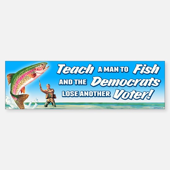 Teach a Man to Fish Sticker (Bumper)