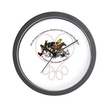 All Gods Creatures Wall Clock