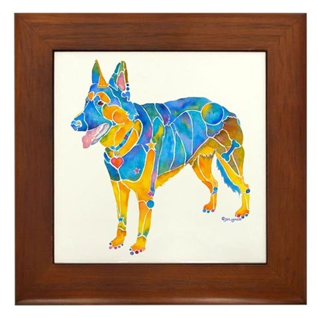 German Shepherd Dog Breed Framed Tile